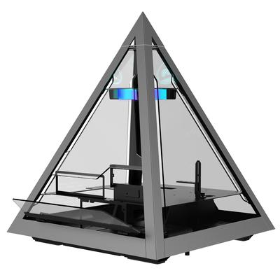 Azza Pyramid 804 Behuizing - Zwart, Grijs, Transparant