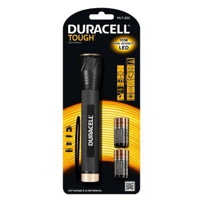 Duracell zaklantaarn: TOUGH TORCH MLT-20C - Zwart
