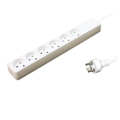 Garbot Plast Power Strip 6-way K outlet, White, 2.0 m Power Cord, K plug Stekkerdoos - Wit