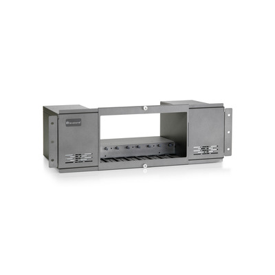 LevelOne POC-6000 - Basis for modulr ekspansion - 0 / 8 - DC strm - rackmonterbar Netwerkchassis - Aluminium