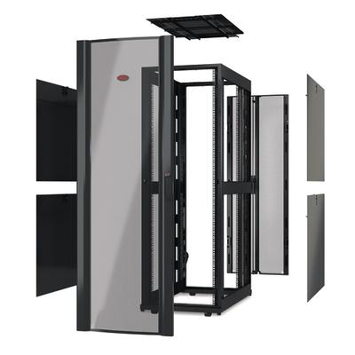 """APC NetShelter SX 42U 750mm(b) x 1070mm(d) 19"""" IT, behuizing zonder deuren en zijpanelen, zwart Rack"""