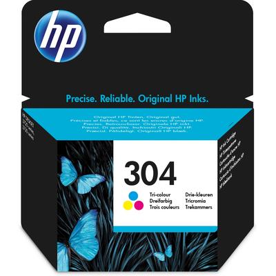 HP 304 originele drie-kleuren Inktcartridge - Cyaan,Magenta,Geel