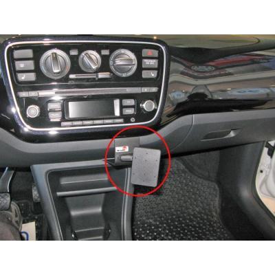 Brodit ProClip - Skoda Citigo 15-16/Seat Mii 15-16/Volkswagen UP 15-16, Angled mount Houder - Zwart