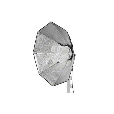 Walimex softbox: Daylight 1000 with Octagon Softbox Ø 60cm - Zwart, Zilver, Wit