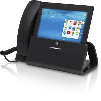 "Ubiquiti networks ip telefoon: Enterprise VoIP Phone with 7"" Touchscreen, Camera, Bluetooth, Wi-Fi, Black - Zwart"