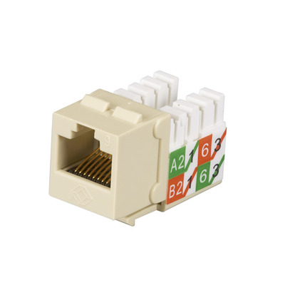 Black Box GigaTrue2 CAT6 Jack, Universal Wiring, Component Level, Single-Pack, Ivory - Ivoor