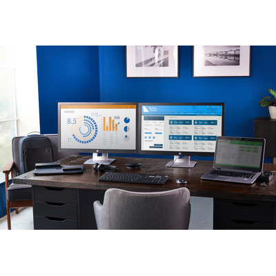 Hp docking station: UltraSlim Docking Station - Zwart (Refurbished LG)
