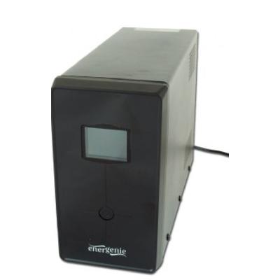Gembird 1500VA, 45dB, 900W, 1 x C14 input, 3 pcs x C13 output, 2 pcs x german Shuko UPS - Zwart
