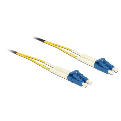 DeLOCK 3m LC-LC Fiber optic kabel - Geel