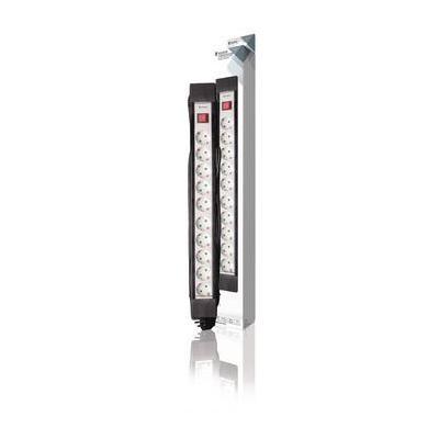 König power extrention: 3680W, AC 230V, 16A, H05VV-F 3G1.5, Type F (CEE 7/7), IP20, 45°, 3m, 610mm, Black/White - .....