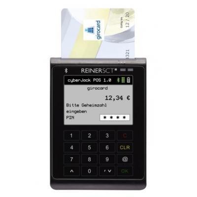 Reiner sct smart kaart lezer: cyberJack POS - Zwart, Geel