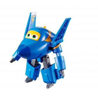 Alpha animation & toys toy vehicle: Super Wings Speelfiguren Transforming! Jerome - Zwart, Blauw