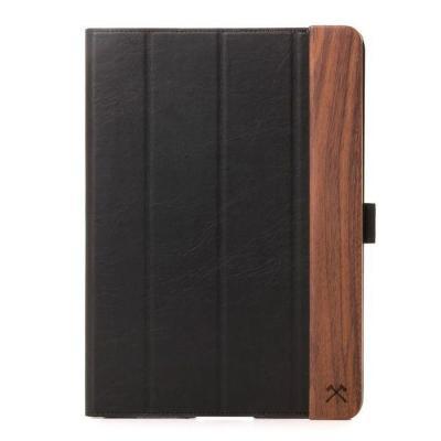 Woodcessories EcoFlip Tablet case - Zwart, Walnoot