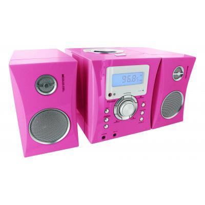 Bigben interactive Speaker: Big Ben, HiFi Micro System CD / Radio + Stickers (Roze)