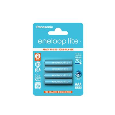 Sanyo batterij: eneloop Lite AAA 550 mAh 4 Blisterpack - Blauw