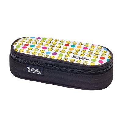 Herlitz potlood case: SmileyWorld Rainbow Faces - Zwart, Multi kleuren