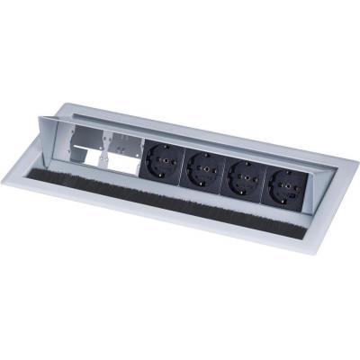 Kindermann Desktop Casing for 6 Insets-RAL 9006 Inbouweenheid - Zwart, Grijs