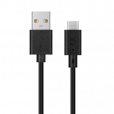 Xqisit Charge & Sync USB C 2.0 to USB A 100cm (black) USB kabel - Zwart