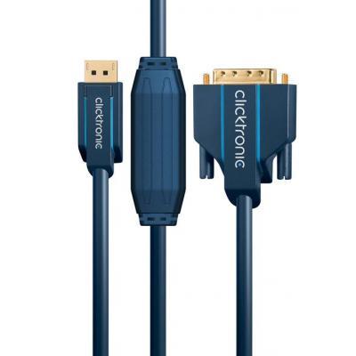 ClickTronic 1 x DisplayPort, 1 x DVI-D, 15.0 m - Blauw