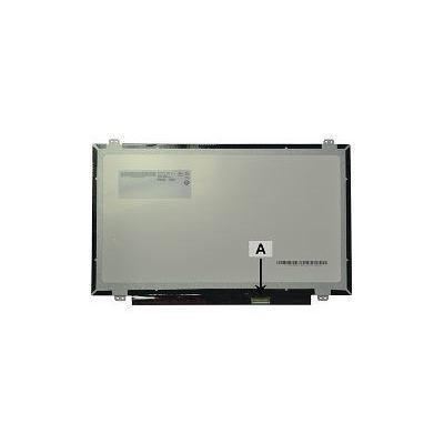 "2-power notebook reserve-onderdeel: 35.56 cm (14.0 "") 1366x768 WXGA HD LED Glossy - Zwart, Grijs"