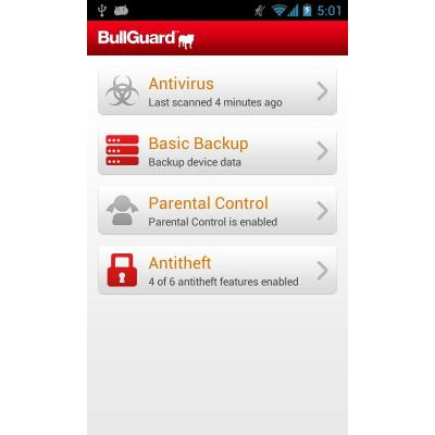 Bullguard software: Mobile Security, 1Y, 1U, 3Dev