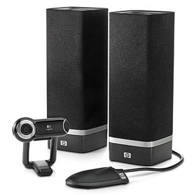 Hp CRT monitor: SkyRoom Webcam and Desktop Audio Kit