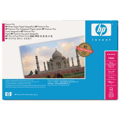 HP 458 x 610 mm, 280 g/m², Glans Fotopapier - Zwart,Blauw,Wit