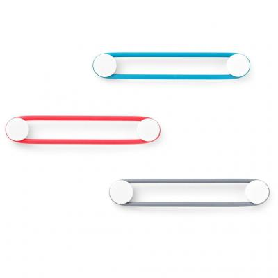 Quirky elastiek: Loopits - Blauw, Grijs, Rood, Wit