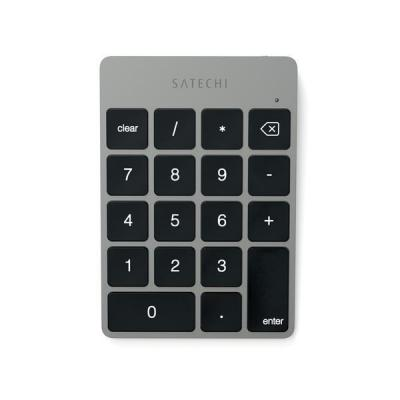 Satechi : Bluetooth Wireless, Aluminum, Rechargeable, Space Grey - Grijs