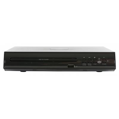 Salora DVD speler: Een compacte DVD speler met diverse aansluitingen, waaronder USB - Zwart