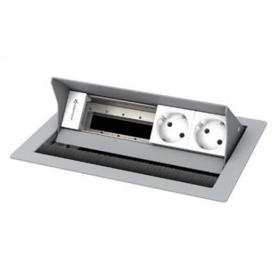 Kindermann 4-fold, 2 x mains Inbouweenheid - Zilver, Wit