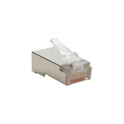Microconnect kabel connector: RJ45 MP8P8C Plug, STP Shielded - Transparant