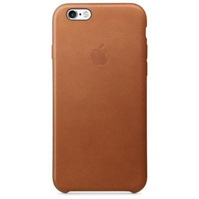 Apple mobile phone case: Leren hoesje voor iPhone 6s - Zadelbruin
