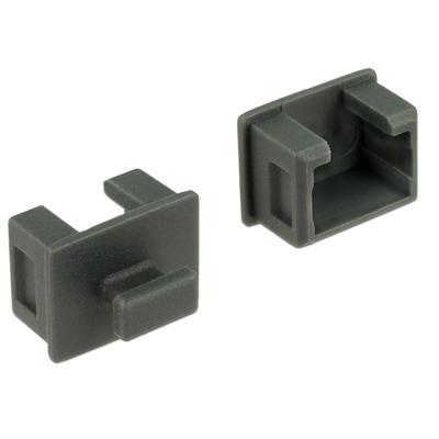 DeLOCK Staubschutz für Fire Wire 1394A 6 Pin B Fitting-cove - Grijs