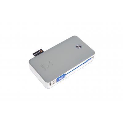Xtorm powerbank: Li-ion, 6700mAh, 2 x USB, QC 3.0, 110 x 59 x 23mm - Grijs, Wit