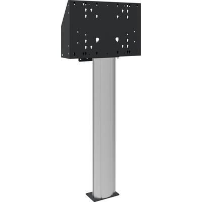SmartMetals Vloerkolom 140cm hart flat panel, voor touch screen max. 120 kg TV standaard - Aluminium, Zwart