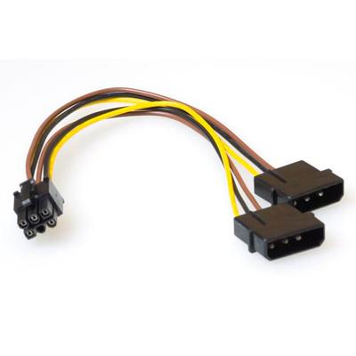 ACT PCI Express voedingskabels Electriciteitssnoer - Multi kleuren