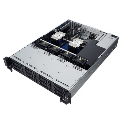 ASUS RS520-E9-RS12-E server barebone - Zwart, Roestvrijstaal