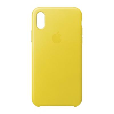 Apple mobile phone case: iPhone X Leather Case - Spring Yellow - Geel