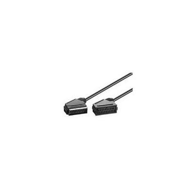 Microconnect : 2m SCART M/F - Zwart