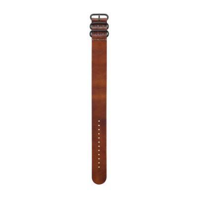 Garmin horloge-band: Brown Leather Strap - Bruin