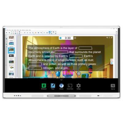 """Smart technologies interactieve schoolborden & toebehoren: 189.23 cm (74.5"""") , 4K, IR, LED, 16:9, 4000:1, 8 ms, 10 ....."""