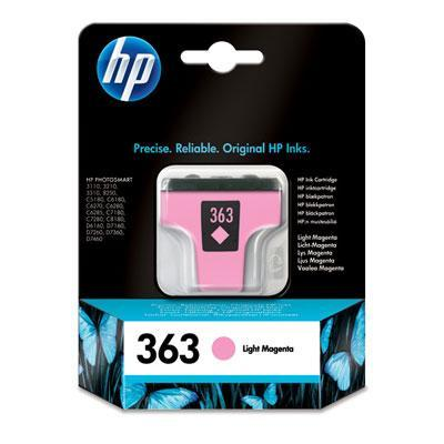 Hp inktcartridge: 363 originele licht-magenta inktcartridge - Lichtmagenta