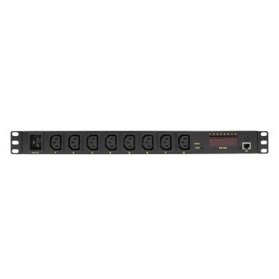 LogiLink PDU8P01 Energiedistributie - Zwart
