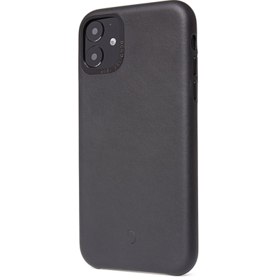 Decoded Leather Backcover iPhone 11 - Zwart - Zwart / Black Mobile phone case