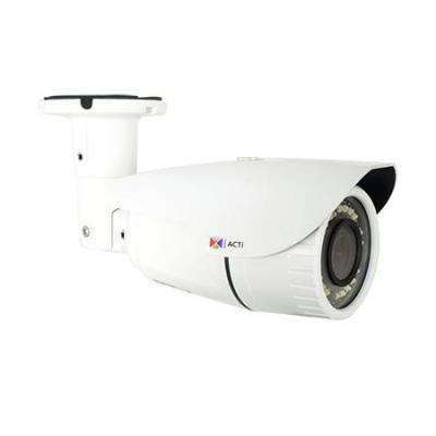 "ACTi CMOS, 1/2.8"", 1920x1080px, 2.13MP, PoE, 10W, 80x258.3mm, 820g, White Beveiligingscamera - Wit"