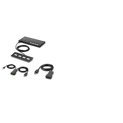 Belkin 4-Port Single Head DP Modular Secure PP4.0 W/ Remote KVM switch - Zwart