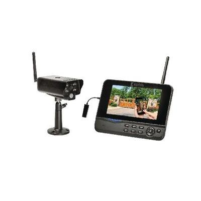 "König video toezicht kit: 17.78 cm (7 "") , LCD, 2.4GHz, 1/5"" CMOS, IP54, RJ-45, 220 - 240V AC - Zwart"