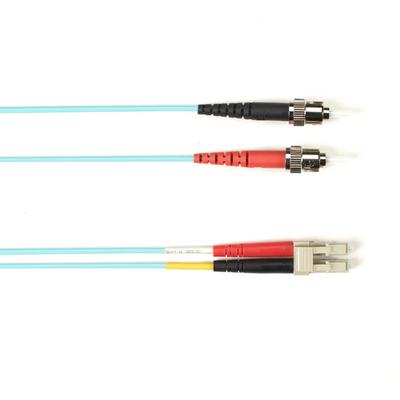Black Box OM3 50-Micron Multimode Fiber Optic Patch Cable - LSZH, ST-LC, Aqua, 3-m Fiber optic kabel
