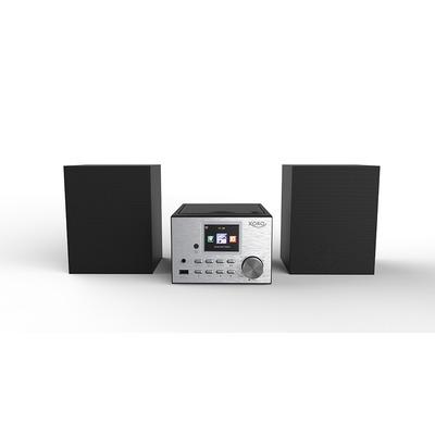 Xoro HMT 500 Home stereo set - Zwart, Zilver